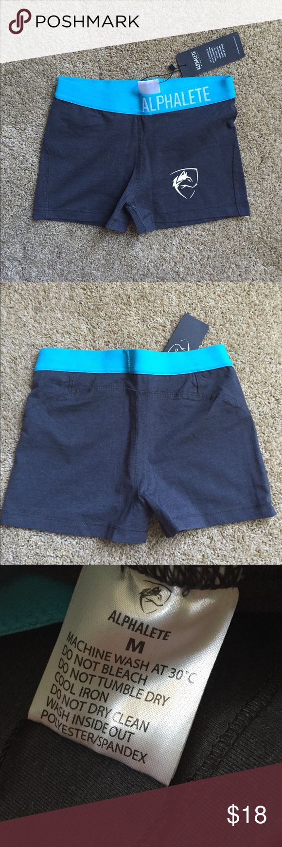 Alphalete Athletics Compression Shorts Alphalete Athletics compression shorts. These are a size M but fit like a S. That is why I am selling them. They do not stretch like Nike compression shorts but are a nice quality Alphalete Athletics Shorts
