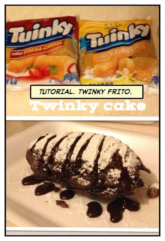 POSTRE FACIL DE HACER. *TWINKY CAKE* TUINKY FRITO. - http://cryptblizz.com/como-se-hace/postre-facil-de-hacer-twinky-cake-tuinky-frito/