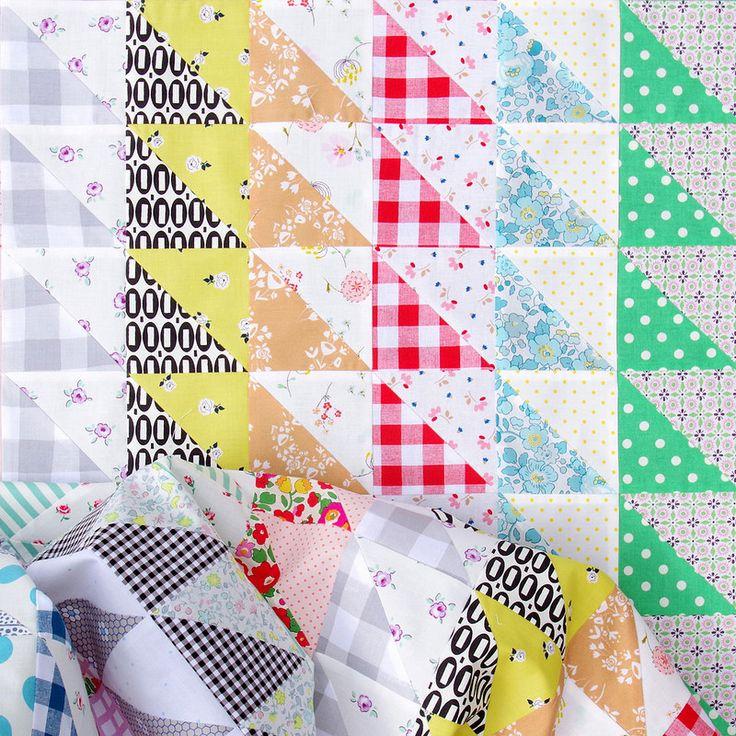 Half Square Triangles Galore ~ A Quilt in Progress