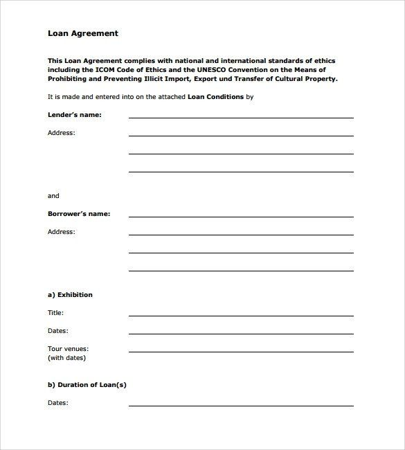 Template For Personal Loan Contract Inspirational Sample Loan