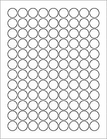 "Hershey Kiss Template OL5275- 0.75"" Circle Blank Label Template"