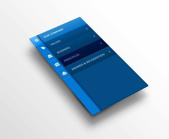 BFC Partners Mobile Navigation Inspiration for Mobile UI