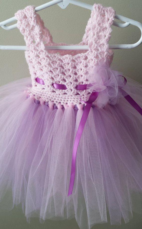 Crochet /Tulle baby dress