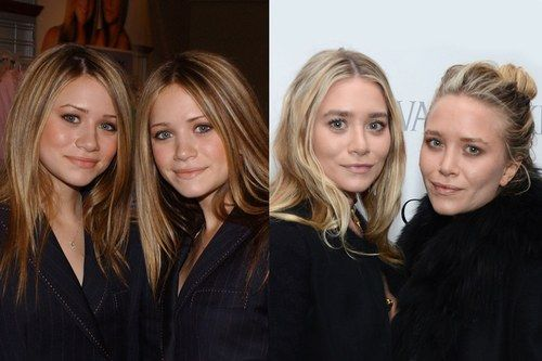 Ashley & Mary Kate Olsen antes y después de retocarse la nariz