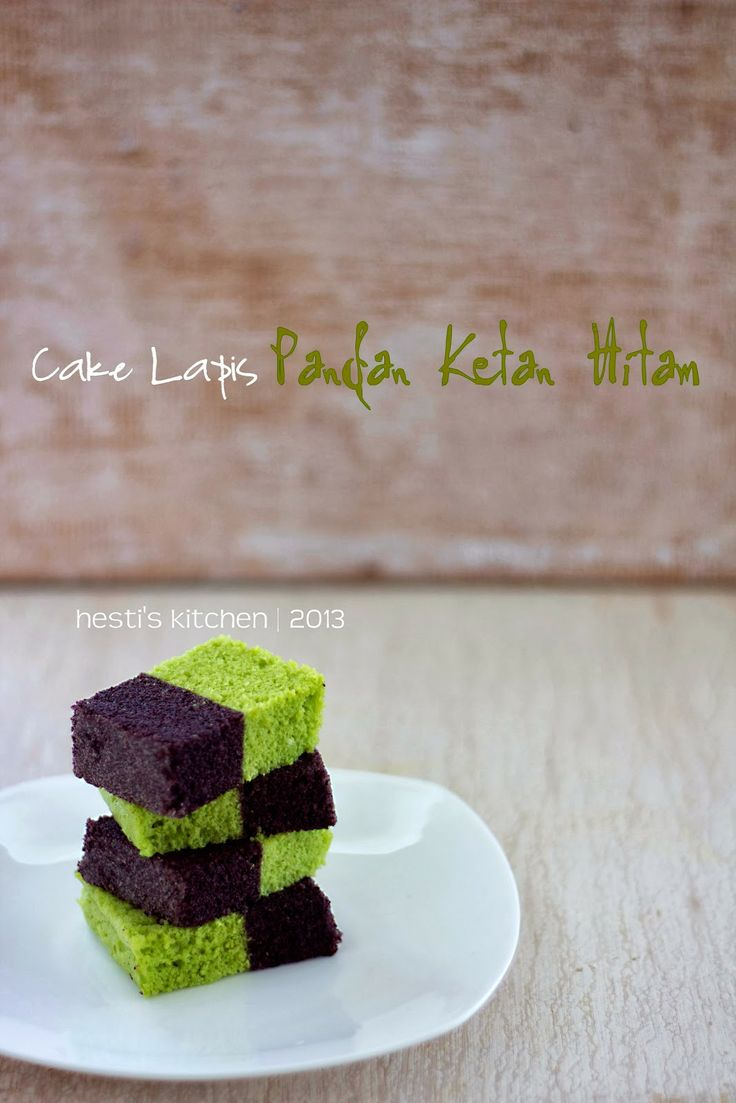 HESTI'S KITCHEN : yummy for your tummy: Cake Lapis Pandan Ketan Hitam
