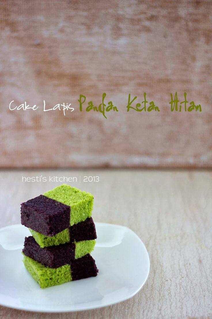 HESTI'S KITCHEN : yummy for your tummy: Cake Lapis Pandan Ketan Hitam