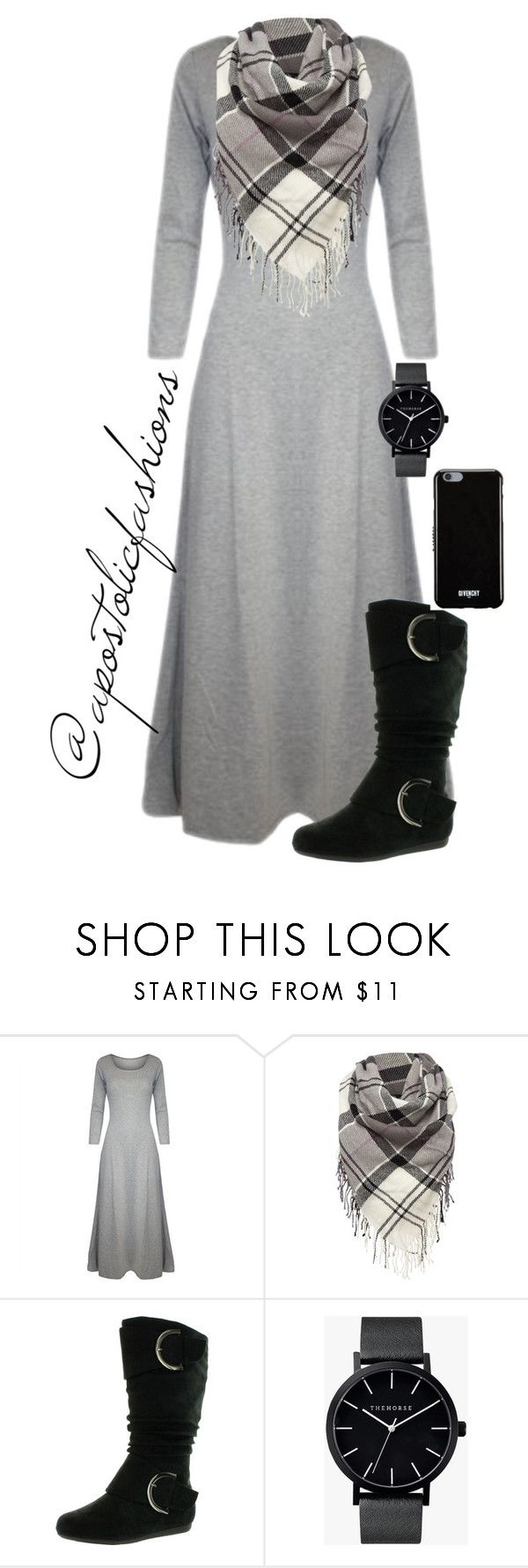 """""""Apostolic Fashions #1250"""" by apostolicfashions on Polyvore featuring Barbour, Top Moda, The Horse and Givenchy"""