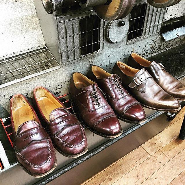 2017/07/05 18:16:20 tontonkishioka Ede & Ravenscroft イード&レベンスクロフト オールデン 👞🔨ハーフソール 👞カカト👞🔨 #edeandravenscroft  #イードアンドレヴェンスクロフト #オールデン #alden  #ハーフソール #ビブラム#Vibram #靴修理 #靴修理東大阪 #メイドインイングランド #カカト交換 #あしもと倶楽部  #レザーソール