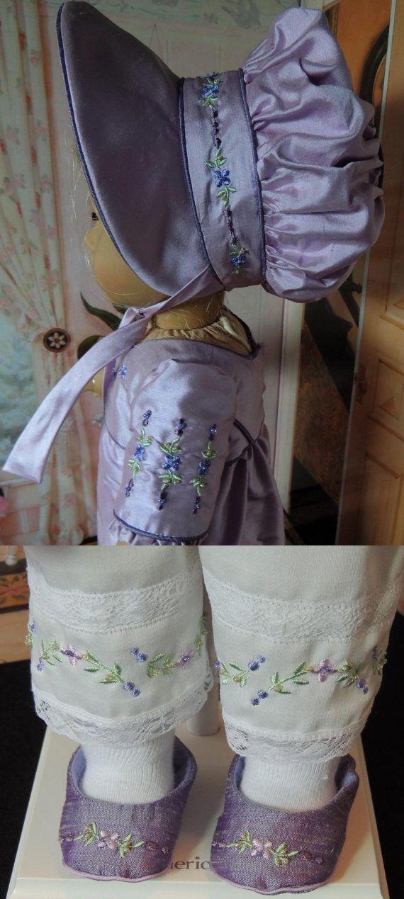 CUSTOM LISTING: Regency Era 1812 Silk Outfit by RebeccasHeirlooms