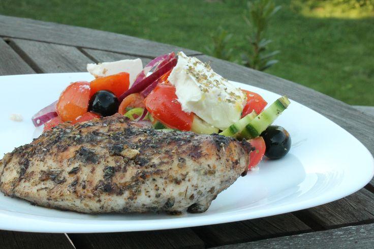 Görög csirke grillen sütve