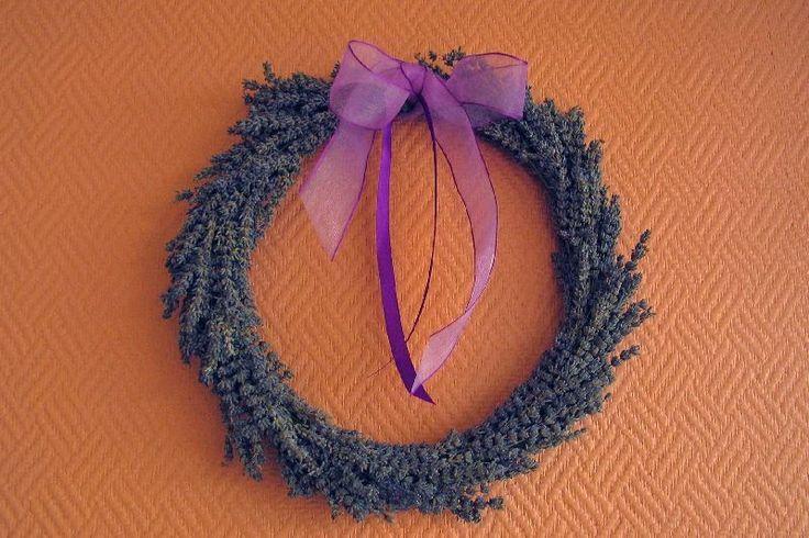 Jeanines hobby: Lavendelkrans