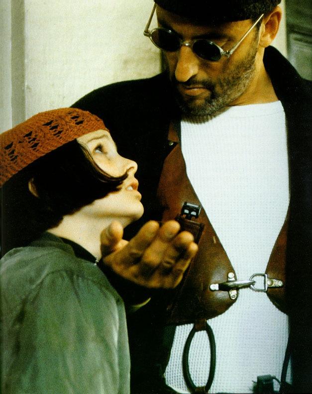 """The Professional"" (1994) / Mathilda (Natalie Portman)  Léon (Jean Reno)"
