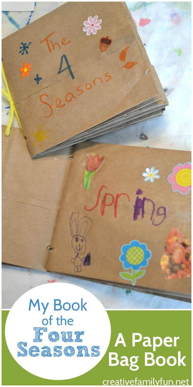 A Paper Bag Book Is A Fun Homemade Book For Kids To Make Put One