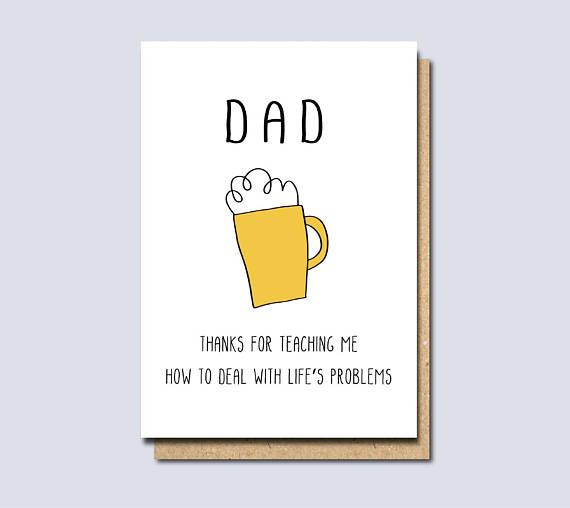 Funny Card For Dad Dad Birthday Card Dad Card Card For Dad Father S Day Card Card For F Funny Fathers Day Card Fathers Day Messages Diy Father S Day Cards
