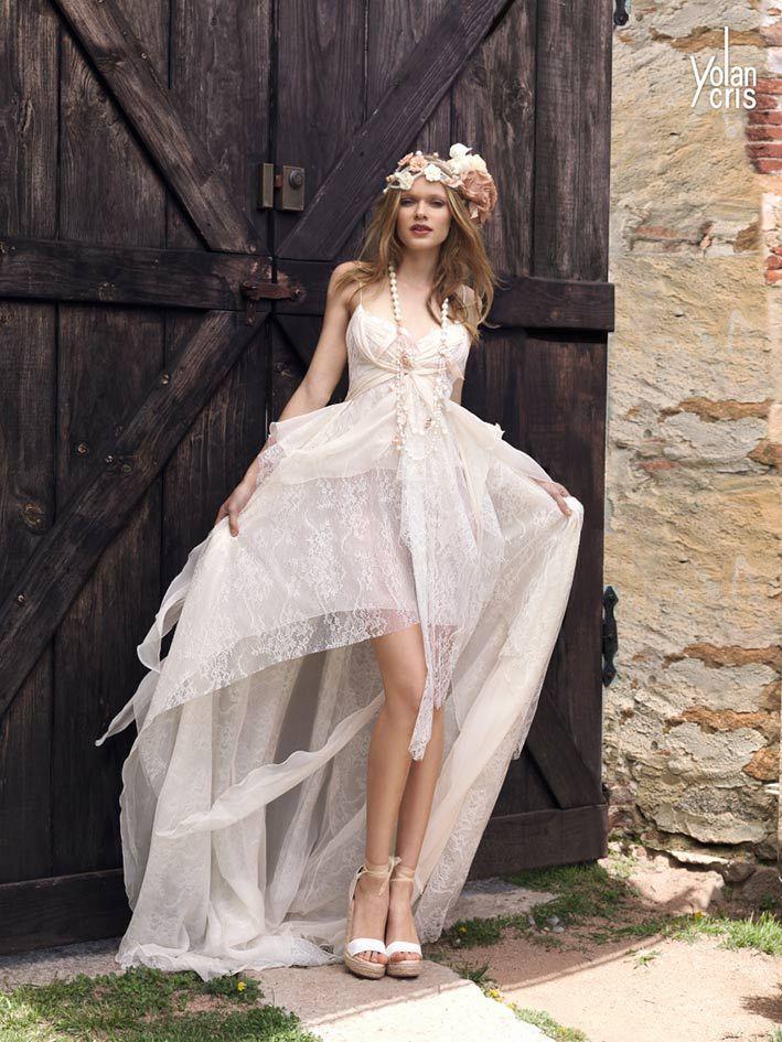 Tomy wedding dress boho chic wedding dresses new for Hippie bohemian wedding dresses
