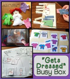 Froggy Get Dressed Busy Box {Workbox Wednesday}   Line upon Line Learning blog www.RebeccaReid.com