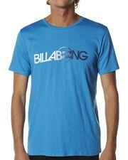 BILLABONG CONQUERED TEE - OCEAN MARLE on http://www.surfstitch.com