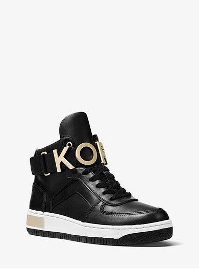 f3e9bafe57758 Cortlandt Embellished Leather High-Top Sneaker. Michael Kors Store  Exclusive.