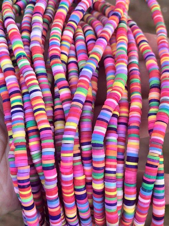 6mm Vinyl Heishi Beads,Mix Color Vinyl Beads,Polymer Clay African Vinyl Disc Beads,Wholesale Vinyl Heishi DIY Making Jewelry Beads.