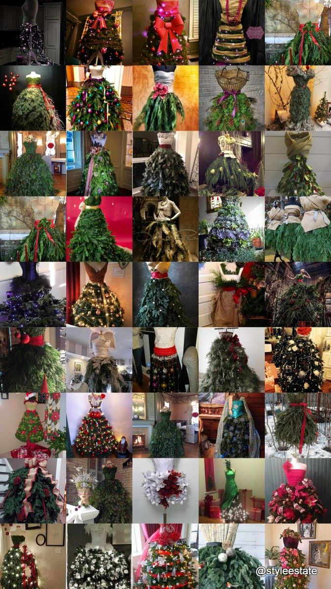 46 Fashion Inspired Christmas Trees Made From Dress Forms - Style Estate -