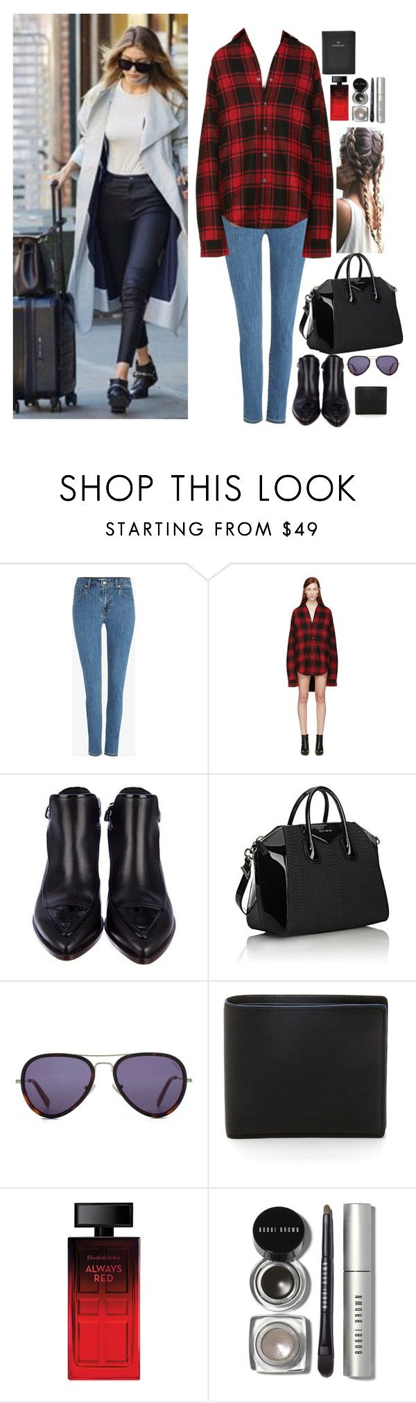 """""""A-arriving to Madrid with Gigi"""" by onedirectionnhllz ❤ liked on Polyvore featuring Levi's, Vetements, Chanel, Givenchy, HOOK LDN, Elizabeth Arden, Bobbi Brown Cosmetics and FOSSIL"""