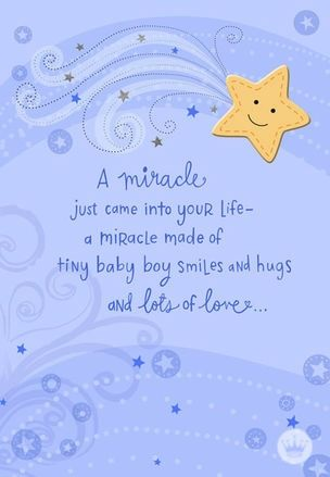 The birth of a baby boy is a true miracle indeed. This card is the perfect sentiment to share at a baby shower and show the new parents in your life how much you care. Shop the full collection at Hallmark today!