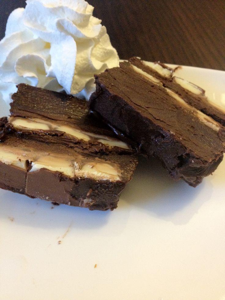 Chocolade dessert van kinderen choco repen | Lekker en Simpel