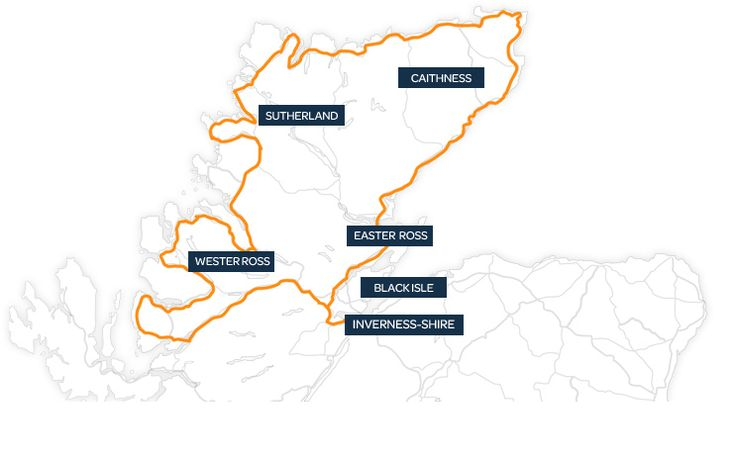 North Coast 500 - Home The NC500 route in Scotland runs from Inverness, to the Kyle of Lochalsh on the West Coast, via the rugged north coast to John O'Groats, before heading down the east coast, completing the loop in Inverness