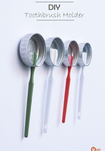 What a fantastic, easy idea! DIY toothbrush holder by Ama