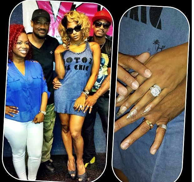 Look at that rock! Joseline and Stevie J's engagement ring?