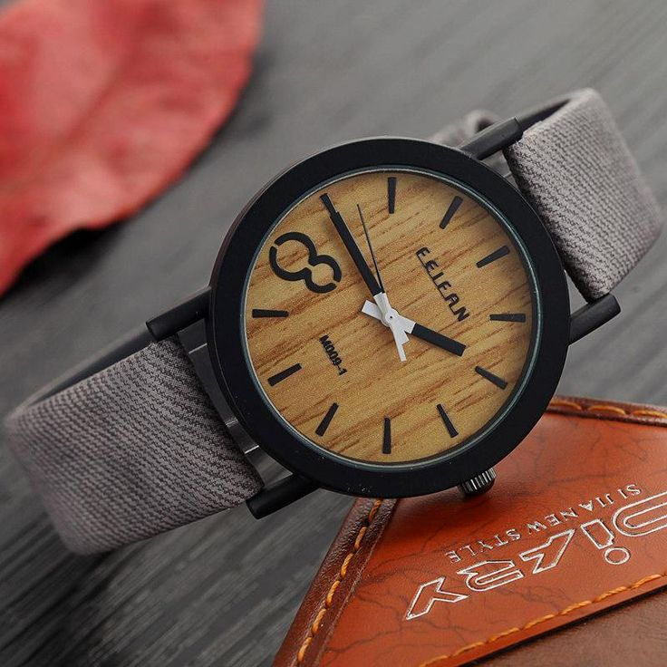 Simulation Wooden Relojes Quartz Men Watches Casual Wooden Color Leather Strap Watch Wood Male Wristwatch Relogio Masculino Just look, that`s outstanding!  #shop #beauty #Woman's fashion #Products #Watch