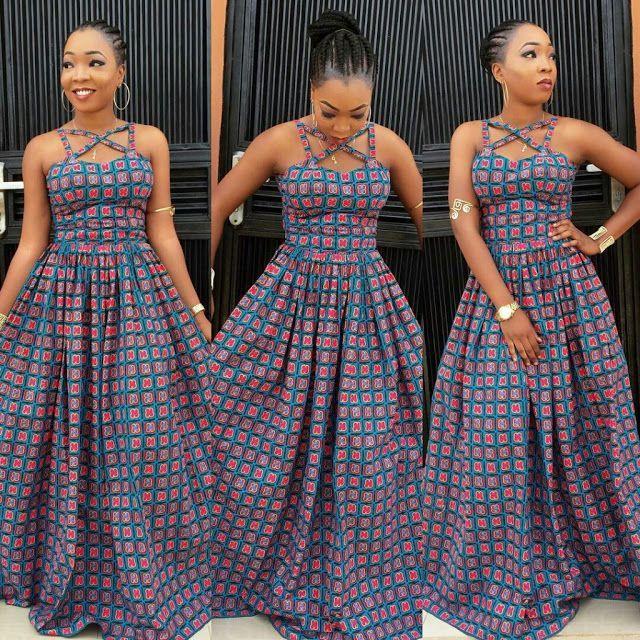 follow me @cushite Creative Ankara Long Gown Design for Ladies - DeZango Fashion Zone