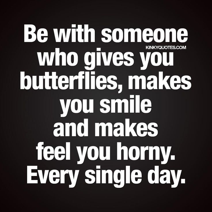 "Today is World Smile Day and we want to celebrate smiling with this brand new quote about being with someone special that makes you smile. We hope you have a fantastic day! ""Be with someone who gives you butterflies, makes you smile and makes feel you horny. Every single day."" Like it and tag someone that makes you smile ;) ❤️ Visit kinkyquotes.com ❤️ Enjoy another original Kinky Quote and join thousands of others and follow for more of our quotes! This quote (Text and image) is copy..."