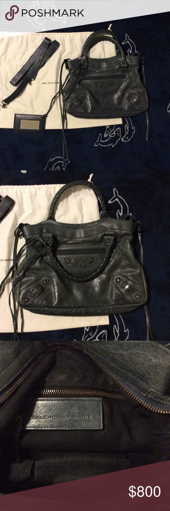 Balenciaga town bag Balenciaga town bag in anthracite with dust bag, mirror, and strap Balenciaga Bags