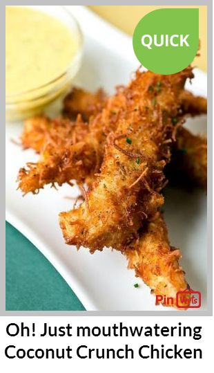 Learn how to cook Coconut Crunch Chicken Strips with Creamy Honey-Mango Dipping Sauce – Heart Healthy Recipes Check out at http://pinverts.com/Oh-Just-mouthwatering-Coconut-Crunch-Chicken_hvyunpr
