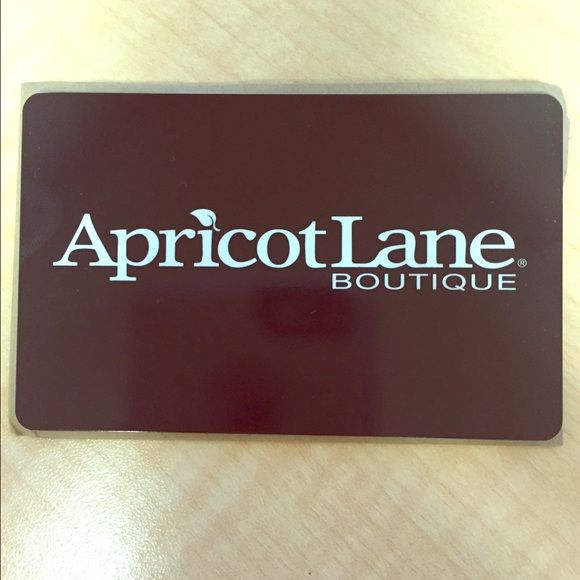 Apricot Lane Boutique $137.34 Gift Card Only $110! I received this gift card as store credit from Apricot Lane. This is priced to sell. This gift card can be used at any Apricot Lane location. Take advantage of this deal! Apricot Lane Other