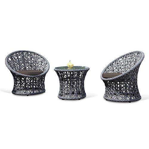 oasis round lattice rattan bistro set rattan garden two chair set with dark grey cushions patio set for 2