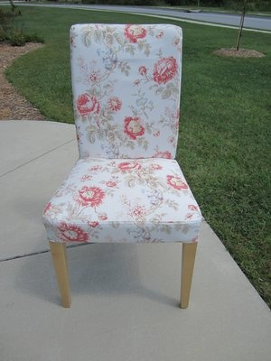 Solid Pine Chair With Floral Cover And Pillow · Pine ChairsYard SalesAccent  ...