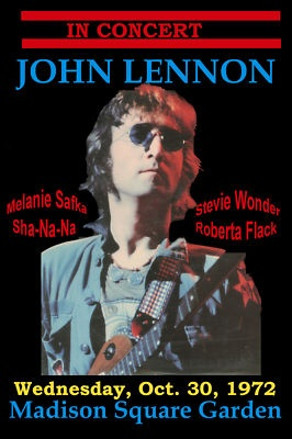 John Lennon  at the Madison Square Garden Concert Poster 1972