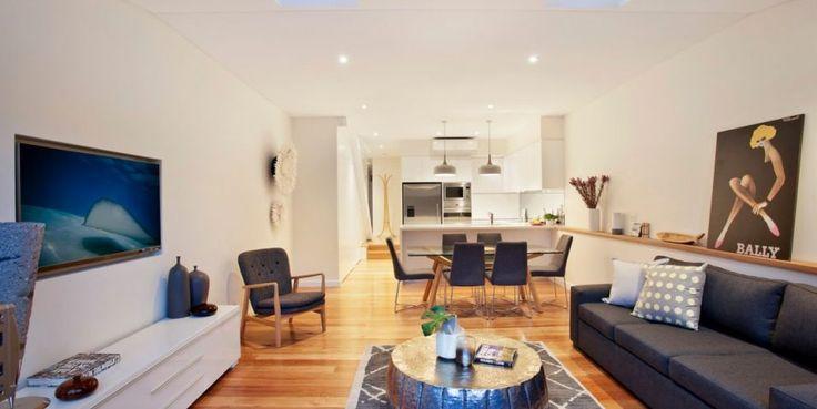 Freestanding home, Caeserstone kitchen, blackbutt flooring, velux skylights