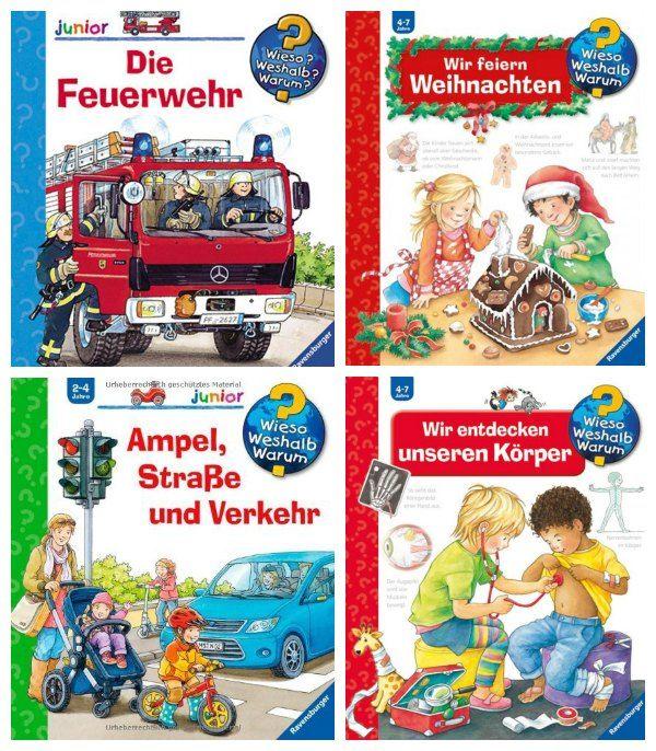 """Kinder ab etwa zwei Jahren wollen viel wissen und stellen immer mehr Fragen. Die beliebten """"Wieso, weshalb, warum""""-Bücher von Ravensburger helfen euch dabei, eurem Kind die Welt begreiflich zu machen."""
