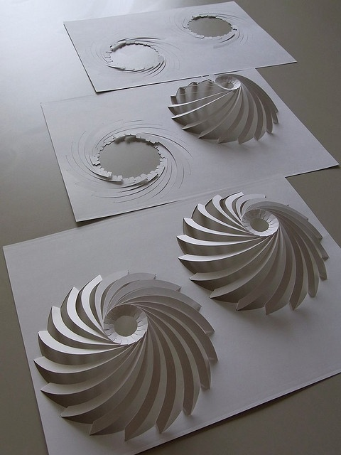making of Lamella Dome by Prof. YM, via Flickr. So perfect!