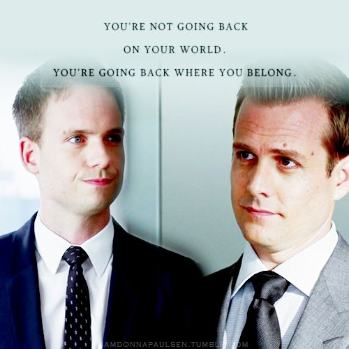 Harvey to Mike | SUITS 3X02  love this scene <3