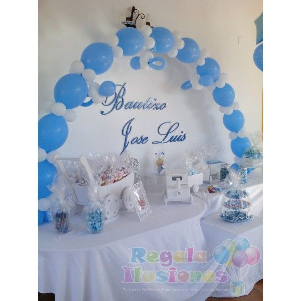 Best 20 decoracion bautizo ni o ideas on pinterest for Decoracion de globos para bautizo