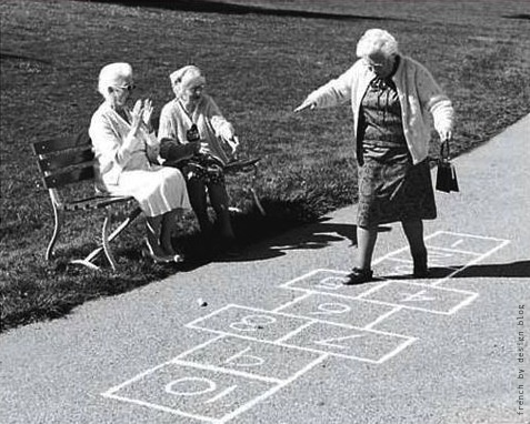 :): Old Age, Go Girls, Stay Young, Inspiration, Old Lady, Young At Heart, Growing Up, Funny, Hopscotch
