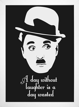 Imagem do Poster Citação Charlie Chaplin - A day without laughter is a day wasted