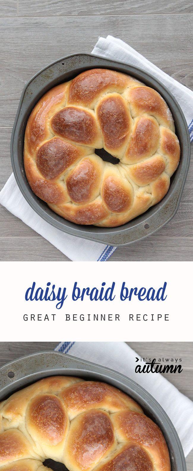 Este magnífico pan trenzado es fácil de hacer y es perfecto para los principiantes.  Se levanta en la nevera para que pueda hacer más adelante y hornear en cualquier momento.  Gran receta para regalar!