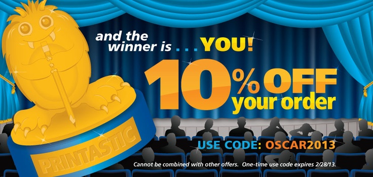 Get 10 off your order with code OSCAR2013, 1x use code
