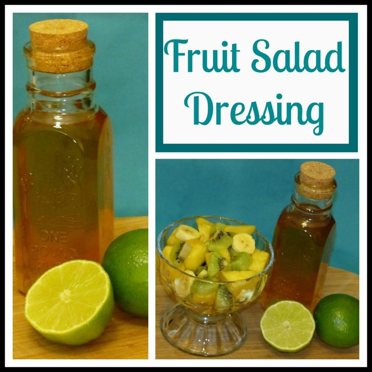 Honey Lime Fruit Salad Dressing