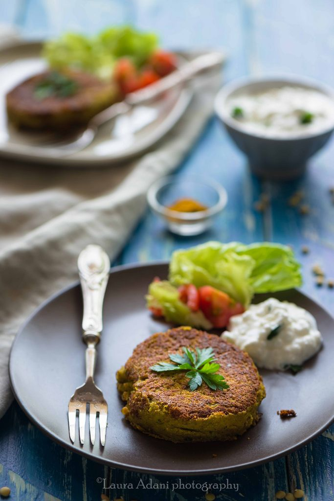 burger di lenticchie e curry-